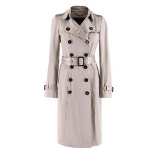 Burberry Womens Cotton Gabardine Trench Coat