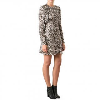 Carven Leopard Print Mini Dress