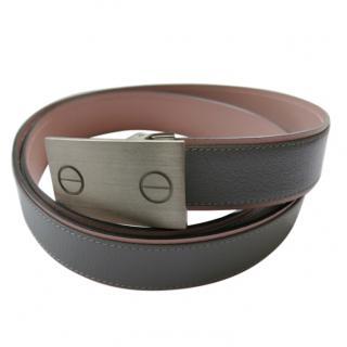 Cartier Grey & Pink Reversible Women's Belt