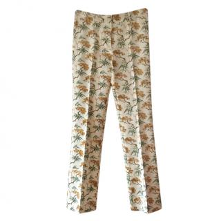 Max Mara Floral Print Tailored Trousers