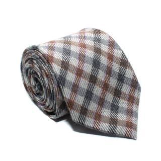 Fiorio Grey Checked Wool Tie