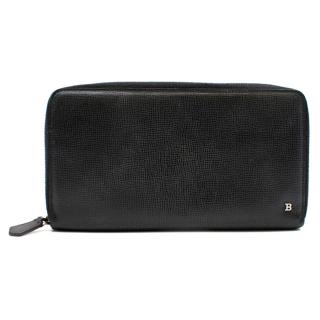 Bally Black Leather Travel Wallet