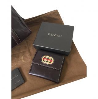 Gucci Brown Interlocking GG Wallet