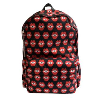 Celine Telepath Love Print Medium Backpack
