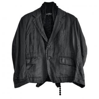 Comme des Garcons black linen jacket