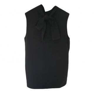 Joseph Black Bow Detail Sleeveless Top