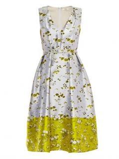 Erdem Printed Jacquard Kuni A-Line Dress Uk12 sz44