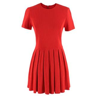 Opening Ceremony Red Ribbed Jersey A-Line Dress