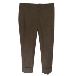 Miu Miu Tweed Check Pants