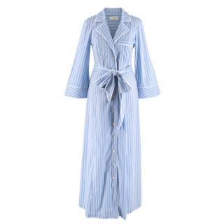 Petersyn Blue Striped Maxi Dress