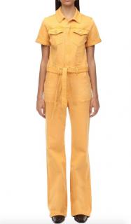 Frame Le Flare De Francoise Belted Jumpsuit Marigold