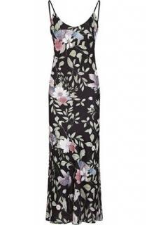 Rewritten Camden Black Bird Print Maxi Dress