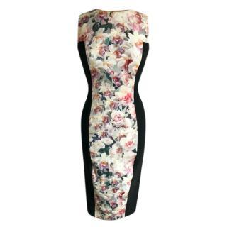Sportmax Floral Panelled Midi Dress