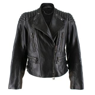 Belstaff Black Leather Biker Jacket