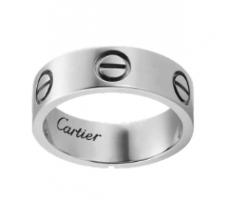 Cartier White Gold Love Ring - Size 52
