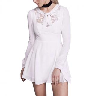 For Love and Lemons white lace panelled dress