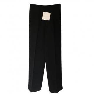 Victoria Beckham Black Wide Leg Tailored Pants