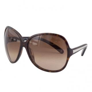 Prada dark brown acetate sunglasses