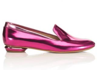 Nicholas Kirkwood Pink Mirrored Loafers
