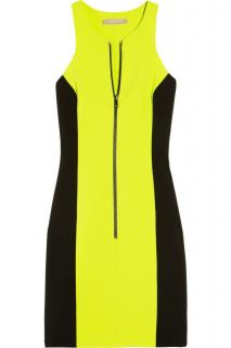 Michael Kors Collection Black & Neon Zip Front Dress
