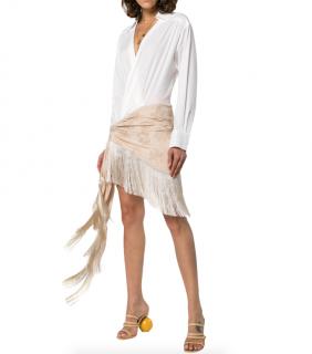 Jacquemus Fringe Hem Pareo Shirt Dress