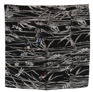 Dolce & Gabbana Monochrome Bird Print Silk Scarf