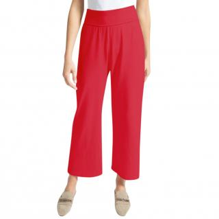 MaxMara red flared jersey trousers
