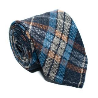 Drake's Cashmere Plaid Tie