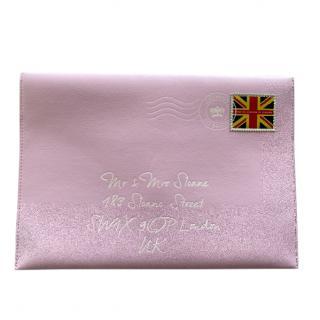 Delvaux Pink Sloane Street Envelope Clutch
