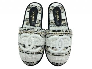 Chanel Tweed House Slippers