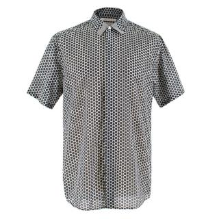 Marc Jacobs Black & White Printed Slim Fit Cotton Shirt