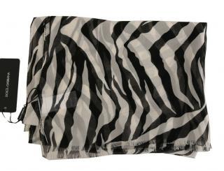 Dolce & Gabbana Zebra Print Scarf