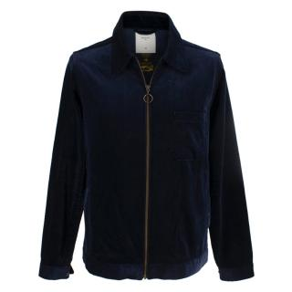 Percival Navy Velvet Jacket