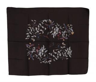 Dolce & Gabbana Floral Bird Print Scarf