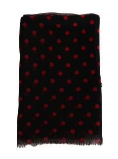 Dolce & Gabbana Black Spotted Silk Scarf