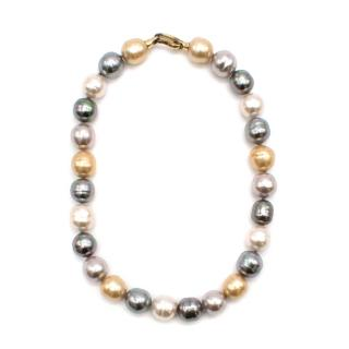 Majorica Gold Faux Pearl Gea Necklace