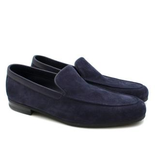 John Lobb Blue Tyne Suede Loafers