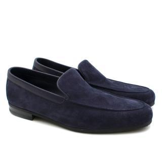 John Lobb Blue Tyne Suede Loafers