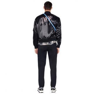 Dior & Alex Foxton Satin Embroidered Bomber Jacket