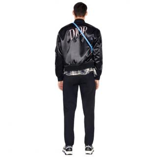 Dior & Alex Foxton Satin Embroidered Bomber Jacket