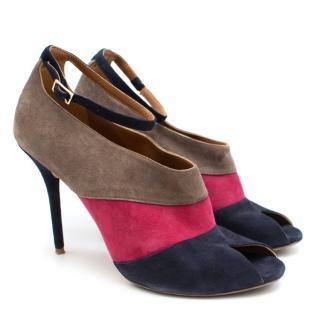 Malone Souliers Tri-Colour Suede Sandals