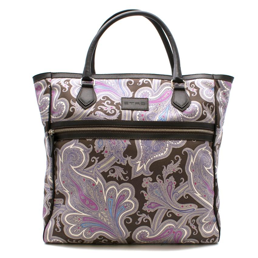 Etro Paisley Print Shoulder Tote Bag