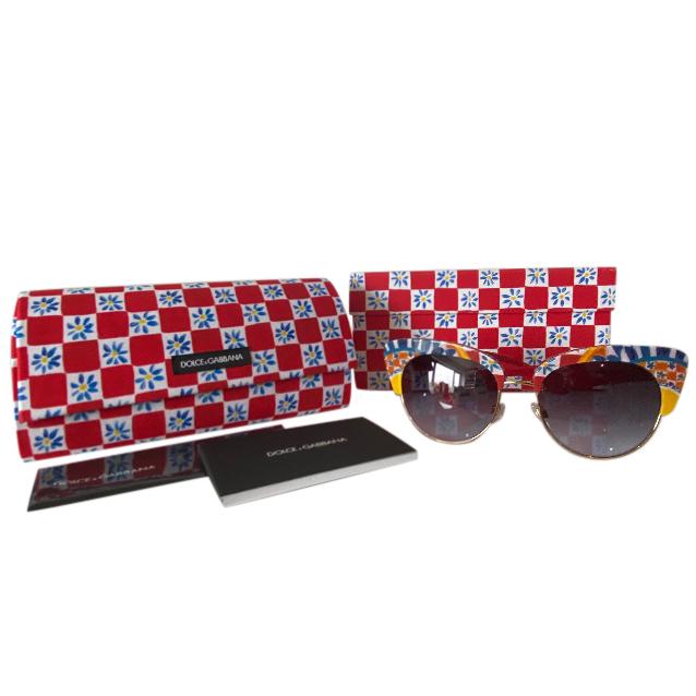 Dolce & Gabbana Carretto Cat-Eye Sunglasses
