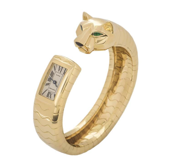 Cartier Yellow Gold Panthere Bracelet Watch