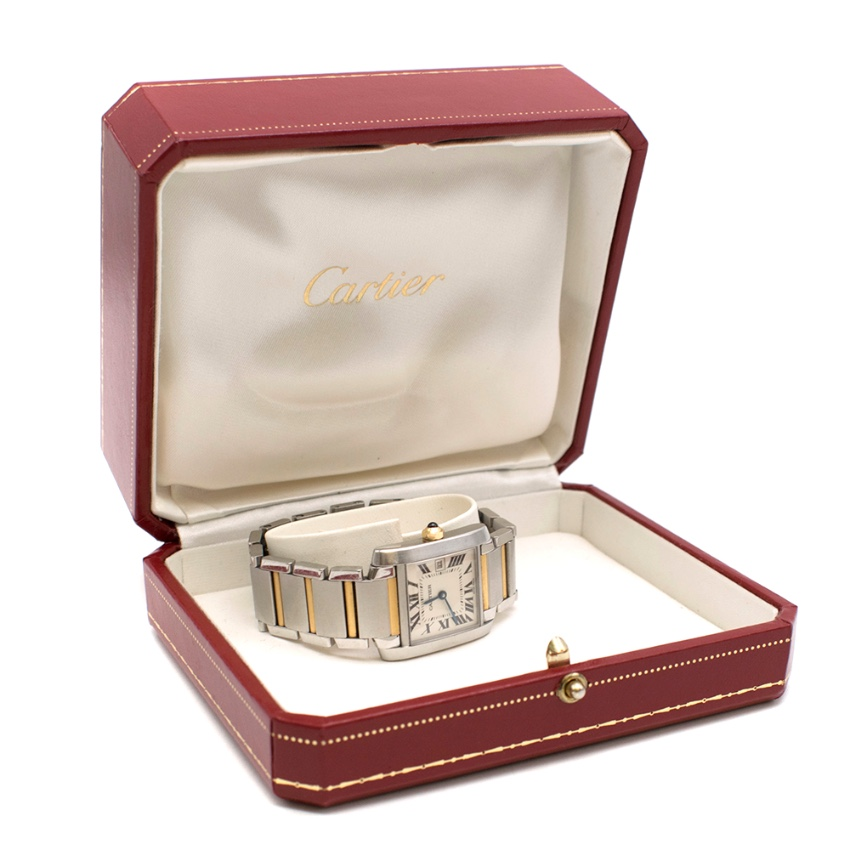 Cartier Tank Fran�aise Medium Yellow Gold & Steel Watch