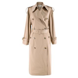 Mango Lightweight Tan Trench Coat
