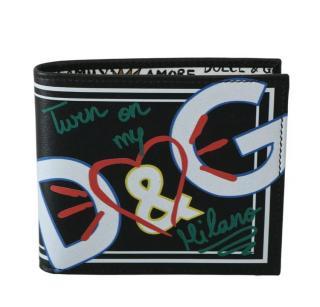 Dolce & Gabbana Graffiti Print Bi-Fold Wallet