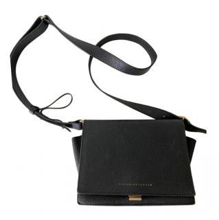 Victoria Beckham Black Grained Leather Shoulder Bag