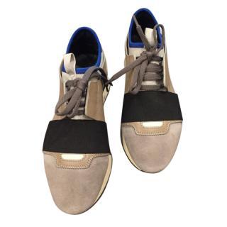 Balenciaga Taupe, Marble, Multi Speed Sneakers