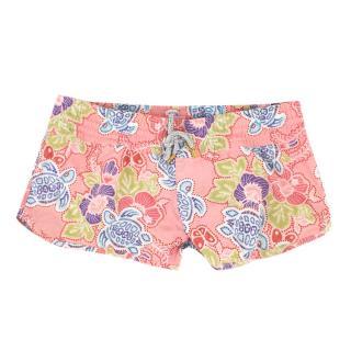 Vilebrequin Pink Printed Short-Length Swim Shorts